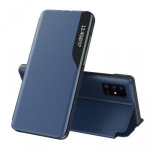 Eco Leather View Case elegancki futerał etui z klapką i funkcją podstawki Huawei P40 Pro niebieski