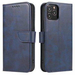 Magnet Case elegancki futerał etui pokrowiec z klapką i funkcją podstawki Huawei P20 Lite niebieski