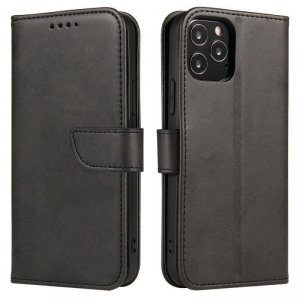Magnet Case elegancki futerał etui pokrowiec z klapką i funkcją podstawki Huawei P Smart 2019 czarny