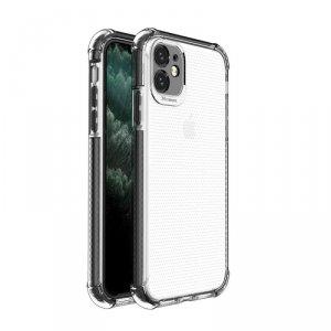 Spring Armor żelowy elastyczny pancerny pokrowiec z kolorową ramką do iPhone 11 czarny