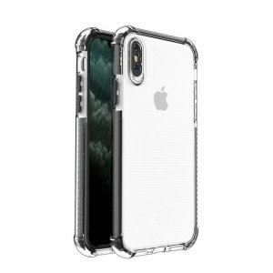 Spring Armor żelowy elastyczny pancerny pokrowiec z kolorową ramką do iPhone SE 2020 / iPhone 8 / iPhone 7 czarny