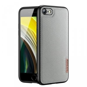Dux Ducis Fino etui pokrowiec pokryty nylonowym materiałem iPhone SE 2020 / iPhone 8 / iPhone 7 szary