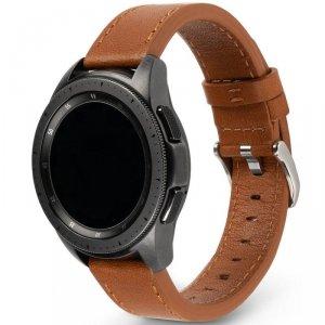 Ringke Leather One Classic skórzana bransoleta opaska pasek do zegarka smartwatch Samsung Galaxy Watch 3 45 mm brązowy (COM-B-22
