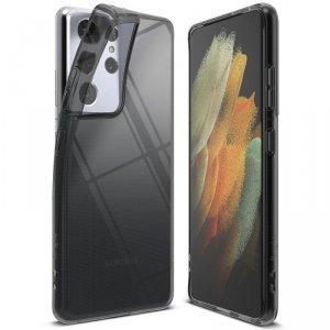 Ringke Air ultracienkie żelowe etui pokrowiec Samsung Galaxy S21 Ultra 5G czarny (ARSG0042)