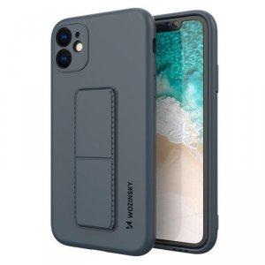 Kickstand Case elastyczne silikonowe etui z podstawką iPhone SE 2020 / iPhone 8 / iPhone 7 granatowy