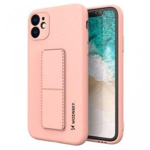 Kickstand Case elastyczne silikonowe etui z podstawką iPhone 11 różowy