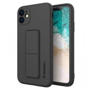 Kickstand Case elastyczne silikonowe etui z podstawką iPhone 11 Pro Max czarny