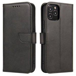 Magnet Case elegancki futerał etui pokrowiec z klapką i funkcją podstawki LG Velvet 5G czarny