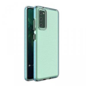 Spring Case pokrowiec żelowe etui z kolorową ramką do Xiaomi Redmi Note 10 Pro jasnoniebieski