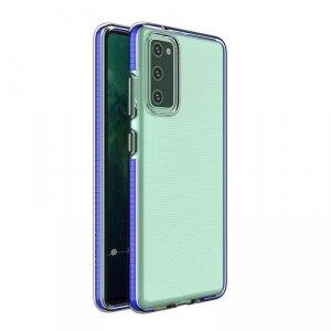 Spring Case pokrowiec żelowe etui z kolorową ramką do Xiaomi Redmi Note 10 Pro ciemnoniebieski