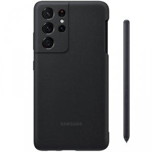 Samsung Silicone Cover + S Pen zestaw 2w1 silikonowe etui z rysikiem S Pen Samsung Galaxy S21 Ultra 5G czarny (EF-PG99PTBEGWW)