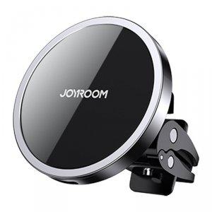 Joyroom samochodowy uchwyt magnetyczny bezprzewodowa indukcyjna ładowarka Qi 15 W (kompatybilna z MagSafe do iPhone) czarny (JR-