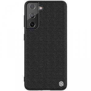 Nillkin Textured Case wytrzymałe wzmocnione etui z żelową ramką i nylonem na tyle Samsung Galaxy S21 FE czarny