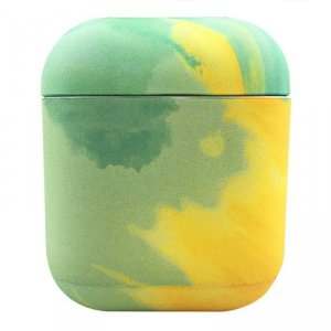 Watercolor AirPods Case kolorowe etui hard case do AirPods 2 / AirPods 1 żółty