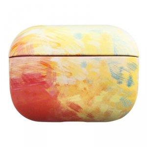 Watercolor AirPods Case kolorowe etui hard case do AirPods Pro żółty