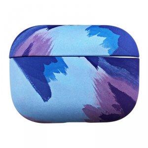 Watercolor AirPods Case kolorowe etui hard case do AirPods Pro niebieski