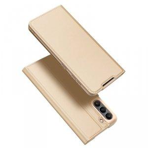 Dux Ducis Skin Pro kabura etui pokrowiec z klapką Samsung Galaxy S21 FE złoty