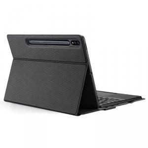 Dux Ducis Touchpad Keyboard Case etui na tablet bezprzewodowa klawiatura Bluetooth Samsung Galaxy Tab S7+ (S7 Plus) czarny