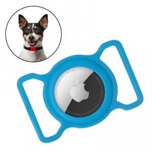 Zestaw obroża i etui do Apple AirTag dla psa kota zawieszka case do lokalizatora Apple AirTag niebieski