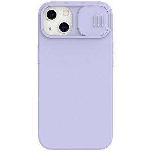Nillkin CamShield Silky Silicone Case etui pokrowiec z osłoną na aparat do iPhone 13 fioletowy