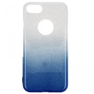 Etui Glitter IPHONE 7 srebrno niebieskie