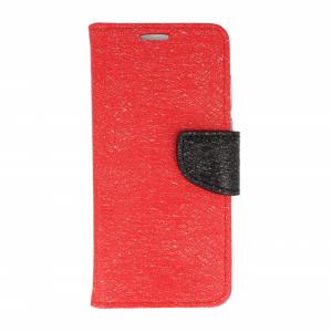 Etui portfel fancy HUAWEI HONOR 7X czerwono-czarny shine