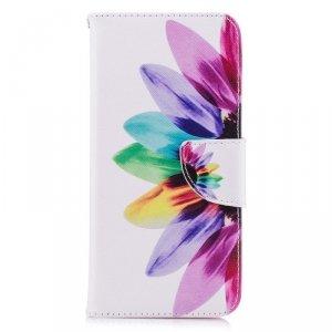 Etui portfel leather LG G7 kolorowane płatki
