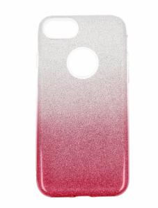 Etui Glitter Iphone 7 srebrno- różowe
