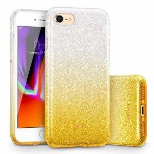 Etui Brokat Glitter NOKIA 4.2 srebrno-złote