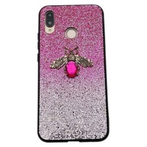 Etui Bee Glitter IPHONE XS MAX różowe