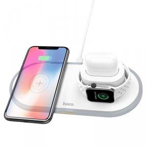 Ładowarka indukcyjna 3w1 10W do iPhone 11 PRO / X / XS MAX / XR, Apple Watch 4 / 3 / 2, AirPods, Samsung S10 Bezprzewodowa Qi Sz
