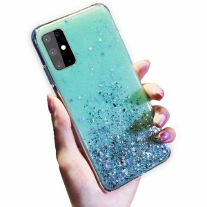 Etui HUAWEI P SMART 2020 Brokat Cekiny Glue Glitter Case zielone