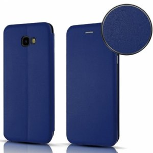 Etui LG Q60 portfel z klapką skóra ekologiczna Flip Elegance granatowe