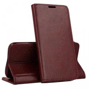 Etui HUAWEI P30 LITE portfel z klapką skóra ekologiczna Kabura Magnet Book burgundowe