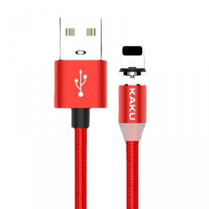Kabel magnetyczny USB iPhone Lightning 3A 1m KAKU Magnetic Charging Cable (KSC-306) czerwony