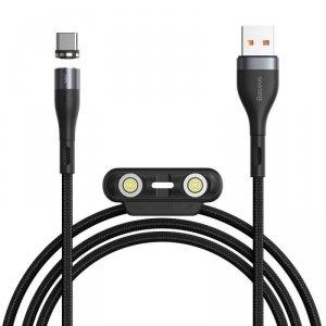 Magnetyczny Kabel 3w1 3A 1m USB na USB Typ C + iPhone Lightning + Micro USB Szybkie Ładowanie i Transfer Danych Baseus Zinc Magn