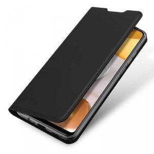 Etui SAMSUNG GALAXY A12 z klapką Dux Ducis skórzane Skin Leather czarne