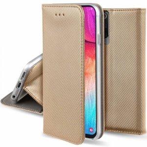 Etui LG K52 portfel z klapką Flip Magnet złote