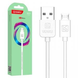 Kabel 2,4A 1m Micro USB Ładowanie i Przesył Danych KAKU Charging Data Cable MicroUSB (KSC-285) white