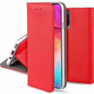 Etui XIAOMI REDMI NOTE 9T PRO 5G portfel z klapką Flip Magnet czerwone