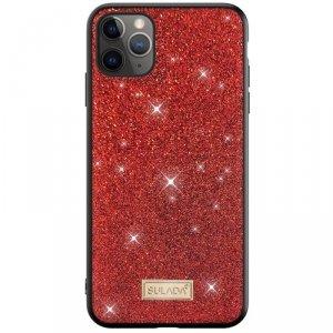 Etui SAMSUNG GALAXY S21+ PLUS Brokat SULADA Dazzling Glitter czerwone