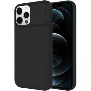 Etui IPHONE 11 PRO Silikonowe z Osłoną na Aparat Nexeri Silicone Lens czarne