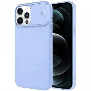Etui IPHONE 11 PRO Silikonowe z Osłoną na Aparat Nexeri Silicone Lens jasny niebieski