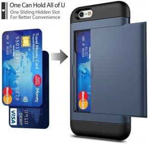 Dual Rugged Case Card Slide - Pancerne etui - iPhone 6 Plus (dark-blue)