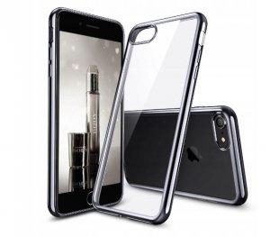 ETUI ELEGANCE PLATE iPHONE 7/ 8 4.7 + SZKŁO (black)