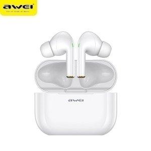 AWEI słuchawki Bluetooth 5.0 T29 TWS + stacja dokująca biały/white