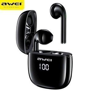AWEI słuchawki Bluetooth 5.0 T28P TWS + stacja dokująca czarny/black