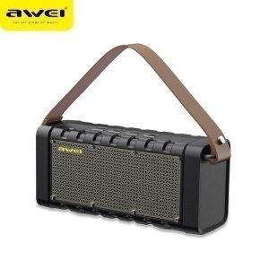 AWEI głośnik Bluetooth 5.0 Y668 20W z power bankiem czarny/black
