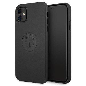 Etui BMW BMHCN61REELK iPhone 11 6,1 czarny/black hardcase Leather Emboss