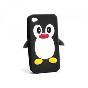Silikon 3D Sam G920 Pingwin czarny Galaxy S6